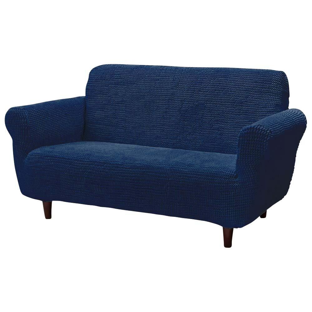 2人掛 アーム付き(スペイン製フィットソファカバー[ビスタ]) 537802(サイズはありません ク:ブルー) B079HHGNN5 ク:ブルー ク:ブルー
