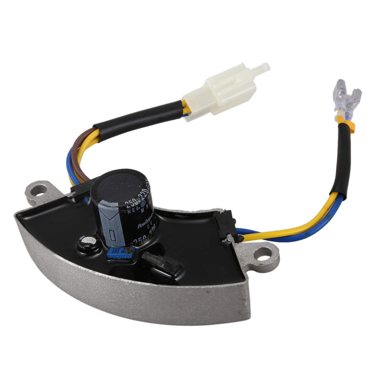 RETYLY Regulador de Voltaje Gris 2 KW-3KW generador de Gasolina automatico AVR Carcasa de Aluminio