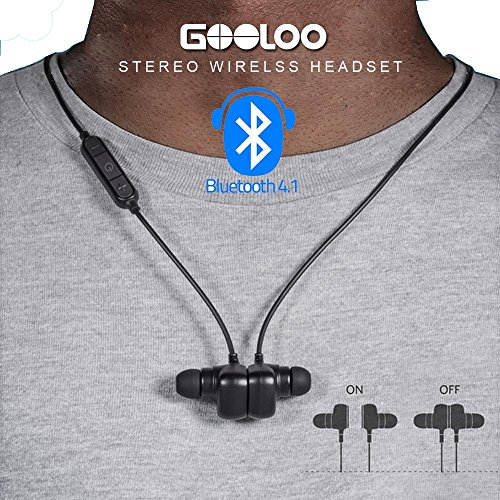 GOOLOO Sport Bluetooth V4.1 Earbuds, In-Ear Sma...