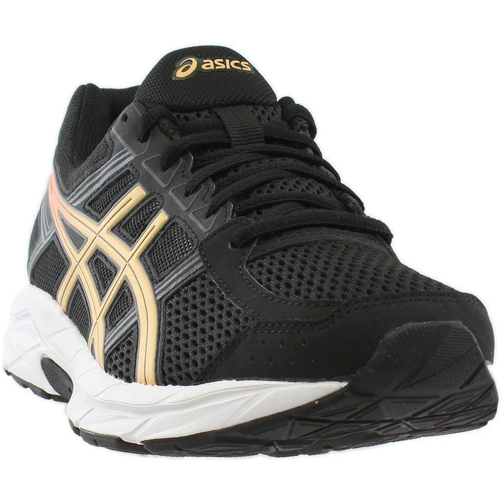 ASICS Womens Gel-Contend 4 Low Top Lace Up Running Sneaker B077XN67KX ブラック 7.5 B(M) US 7.5 B(M) US|ブラック