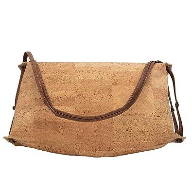 e1b7271f9f6e Cork Halfmoon Handbag Vegan Bag Unique Style Purse Designed in Canada   Handbags  Amazon.com