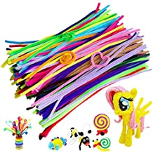 Acerich 300 Pcs Colored Pipe Cleaners Chenille Stems for DIY Art Craft Decorations (6 mm x 12 inch)
