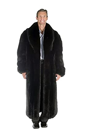 eeea3bffcb Madison Avenue Mall Real Genuine Long Fox Fur Coat For Men Full Length Black  40