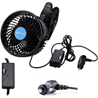 Alagoo 12V 6''Car Cooling Fan Automobile Vehicle Clip Fan Powerful Quiet Ventilation… photo