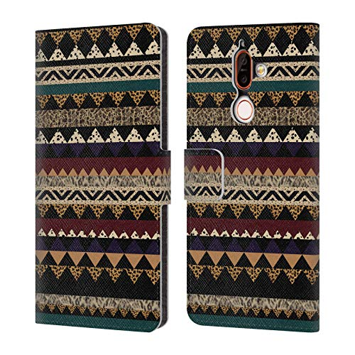 Official Vasare NAR Bisque Vasare Patterns 2 Leather Book Wallet Case Cover for Nokia 7 ()