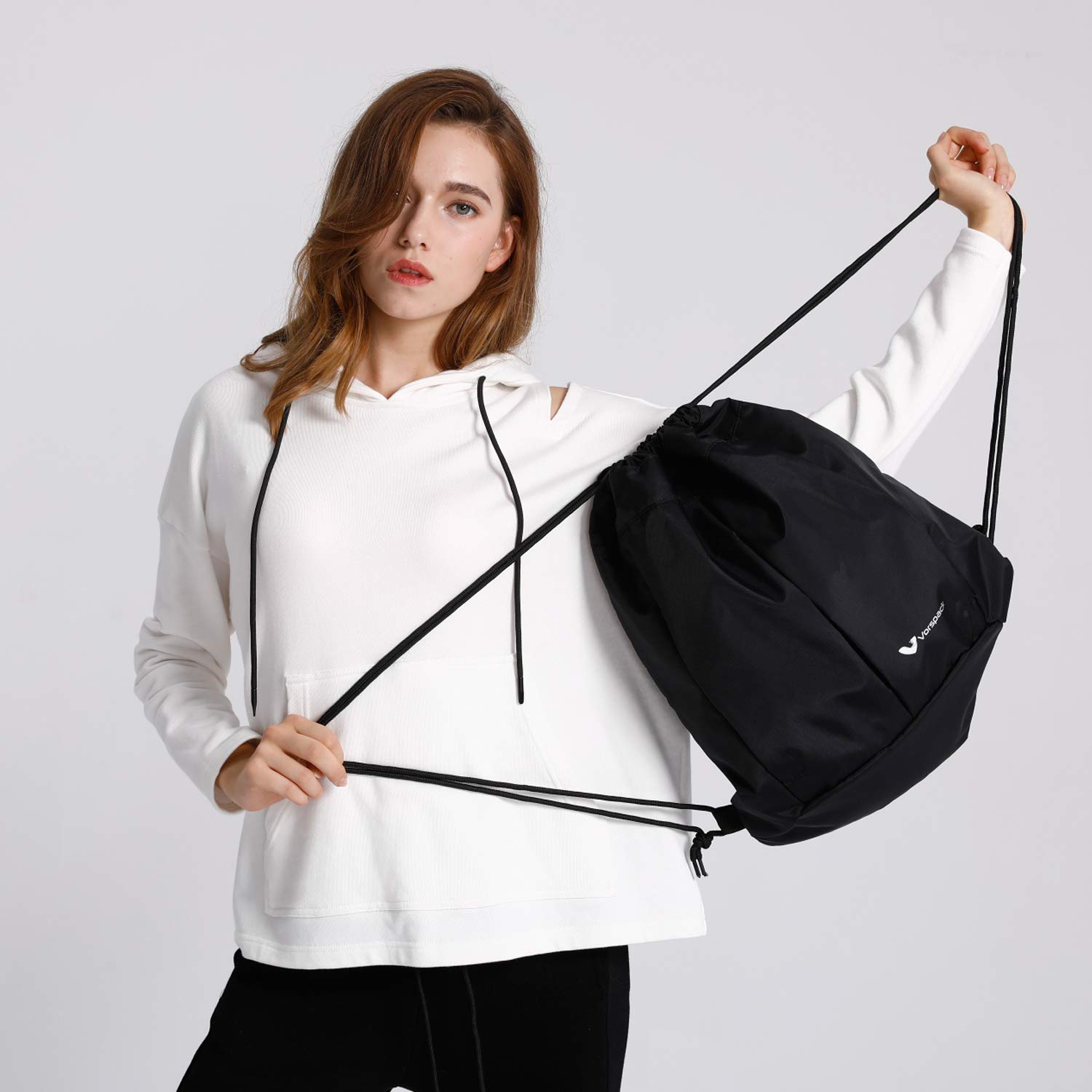 Drawstring Backpack Sports Gym Waterproof String Bag Cinch Sack Sports Sackpack Gymsack for Men and Women