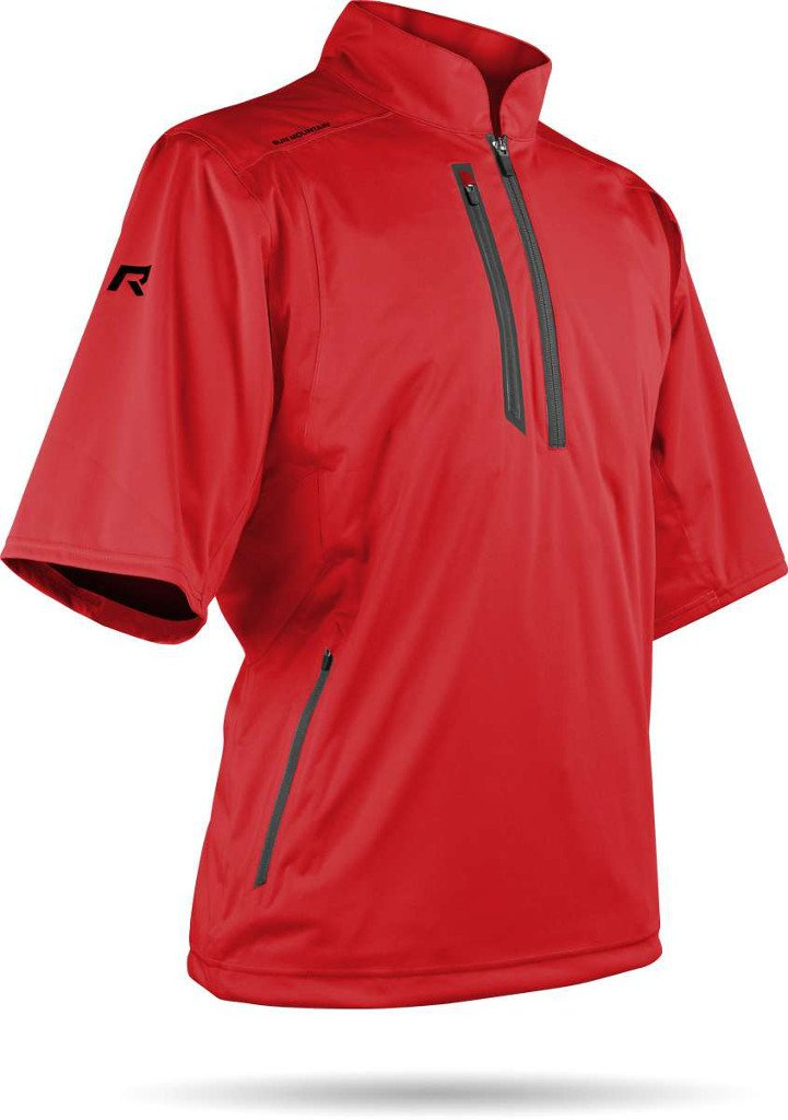 Sun Mountain Mens Short Sleeve Rainflex Pullover Red M by Sun Mountain