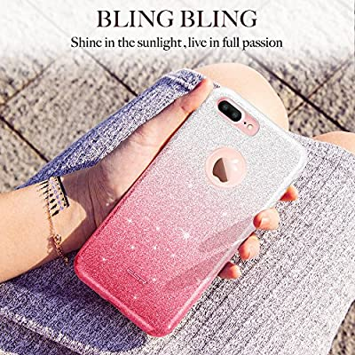 """ESR iPhone 7 Plus Case,Glitter Sparkle Bling Case [Three Layer] for Girls Women [Shock-Absorption] for 5.5"""" iPhone 7 Plus(2016 Release)"""