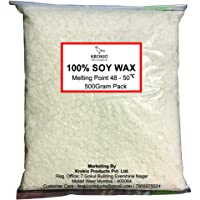 Krokio Soy Wax for Candle Making (500 Gram) - (100% Soy Wax Flakes