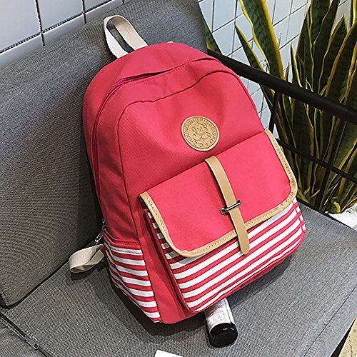Backpack Bags amp; Shoulder ALIKEEY Preppy School Women Women Travel Backpacks Bag Canvas Men Girls and Boys Pink Girls Bookbags For Small Lightweight and x7OwISOq