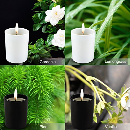 Scented Candles Pack 6 Aromatherapy Set of Fragrance Soy Candles, Gardenia, Lemongrass, Pine, Vanilla, Lavender, Peppermint Soy Candle Wax for Stress Relief, Christmas Gift by Humbgo (Image #2)