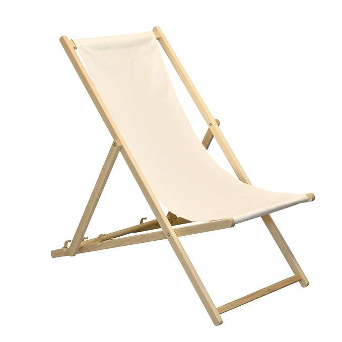 Mobilier de jardin Harbour Housewares Chaise Longue réglable ...