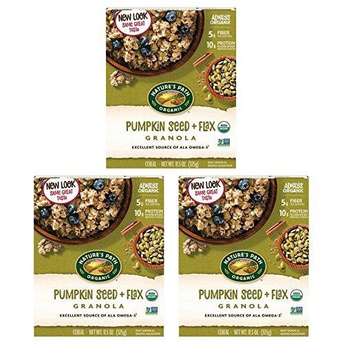 Nature's Path Flax Plus Pumpkin Flax Organic Granola, 11.5 oz (Pack of 3)