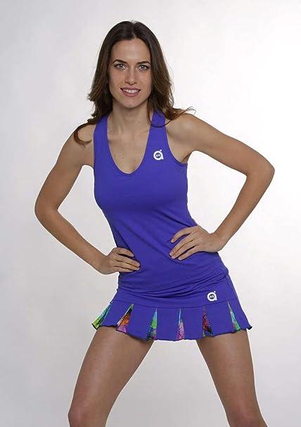 A40GRADOS Falda Pádel Filipa Blanca Stars, Tenis