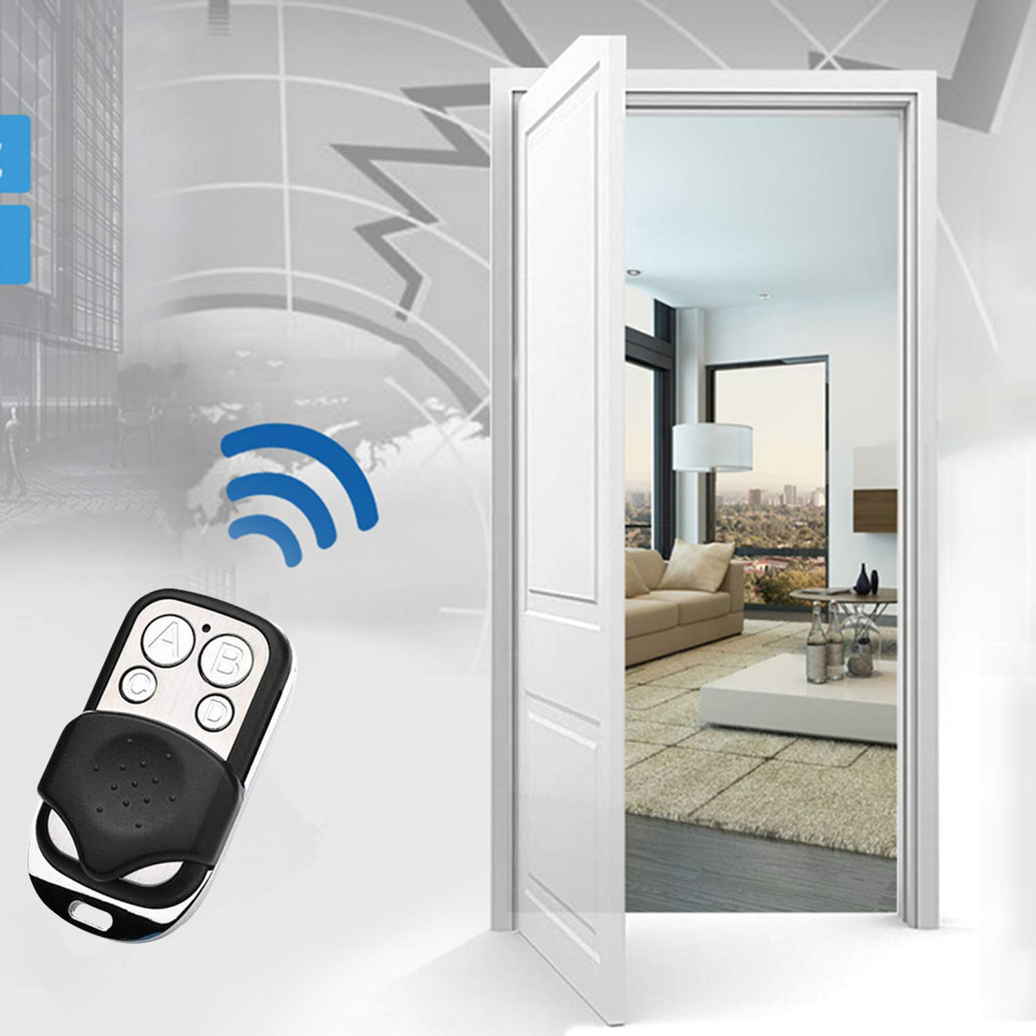 4 Channel Wireless RF Remote Control ABCD 433 MHz Universal Electric Gate Garage Door Remote Control Key Fob Controller