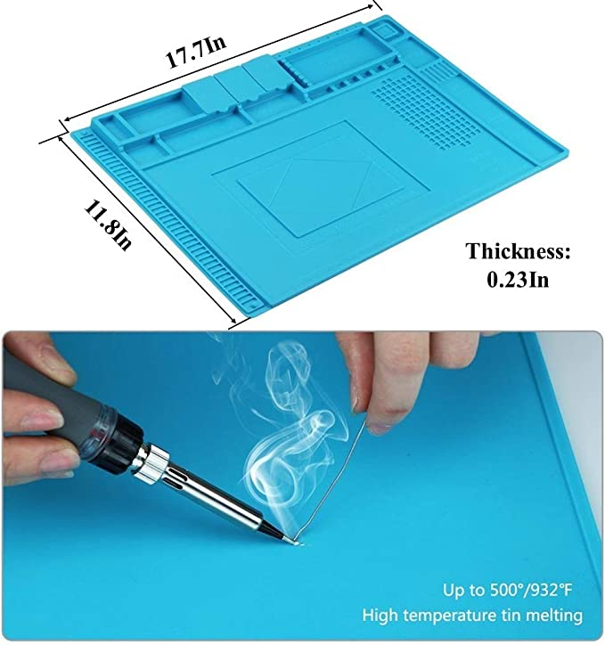 Magnetic Heat Insulation Silicone Soldering Mat Repair BGA Welding Iron Wo VJZ