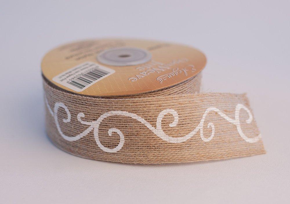 Craft Vintage Wedding Orange Open Weave Jute Ribbon x 10yds Eleganza