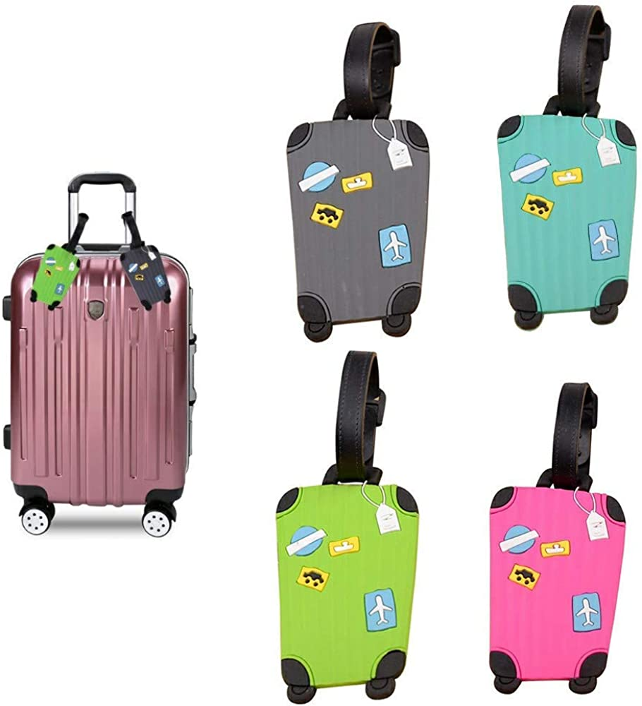 2 Pack Luggage Tags Beaches Baggage Tag For Travel Tags Accessories