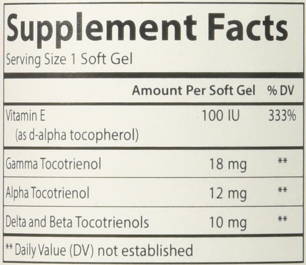 Carlson Labs Tocotrienols Softgels, 180 Count by Carlson (Image #2)