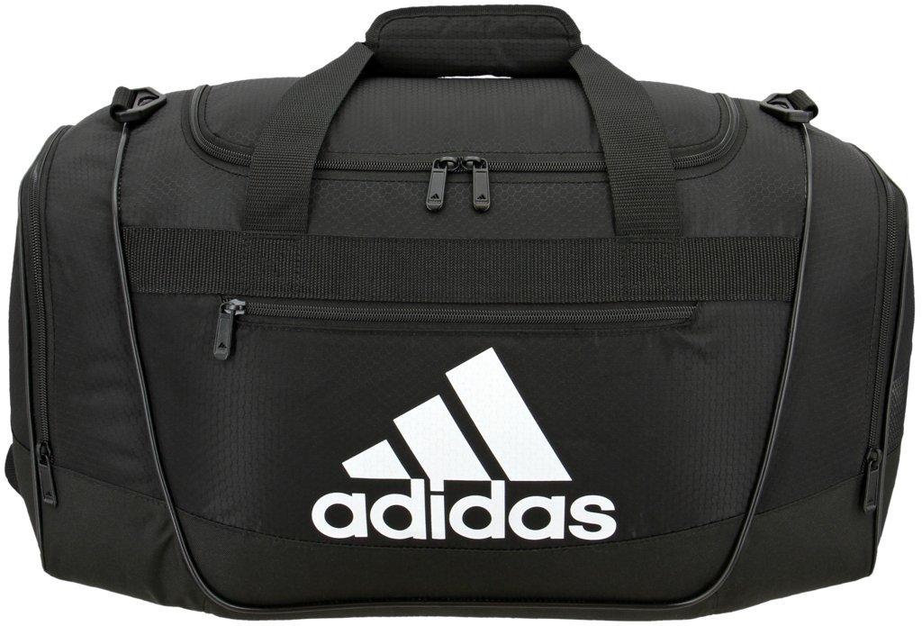 adidas Women's Defender III small duffel Bag, Black/White, One Size