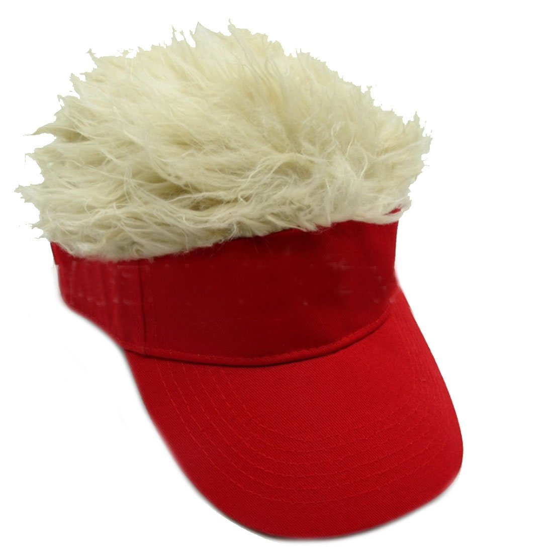 Lerben Funny Sun Visor Cap Wig Peaked Hat Adjustable Baseball Cap SUG-05281