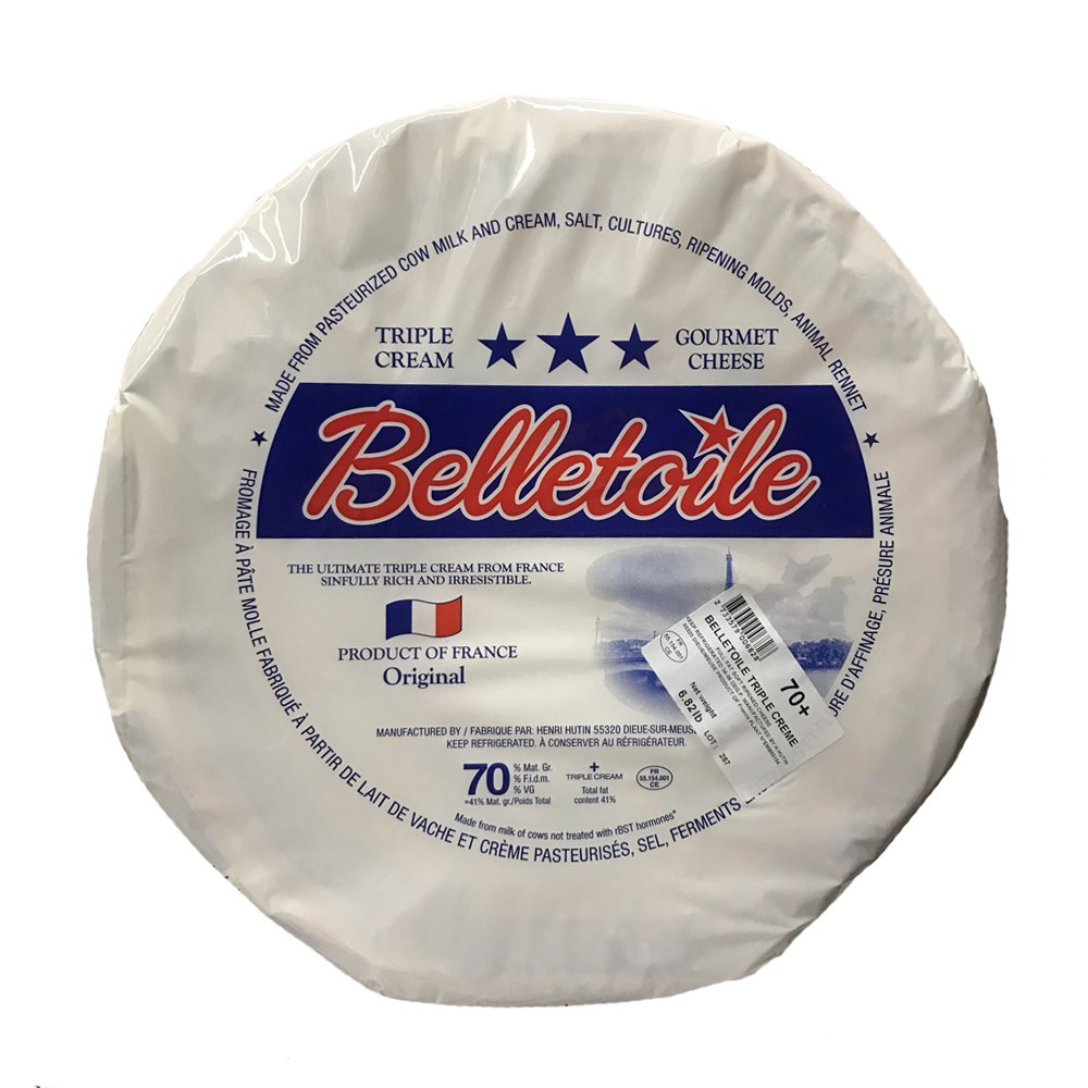 French Brie Cheese - Soft Ripened Cheese - Triple Cream - 4.4Lb-Wheel