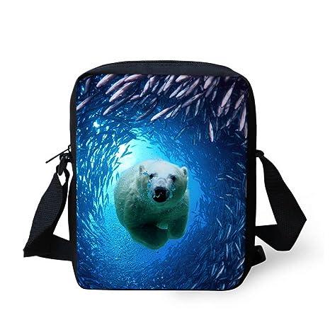 Amazon.com: showudesigns bajo el agua animales niños, bolsas ...