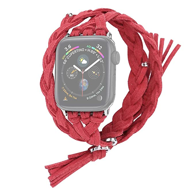 Amazon.com : XBKPLO Compatible for Apple Watch Band 42mm 44mm, Series 4 Hand-Woven Nylon Strap Bracelet Women Series 4/3/2/1 Replacement Sport Cuff : Pet ...