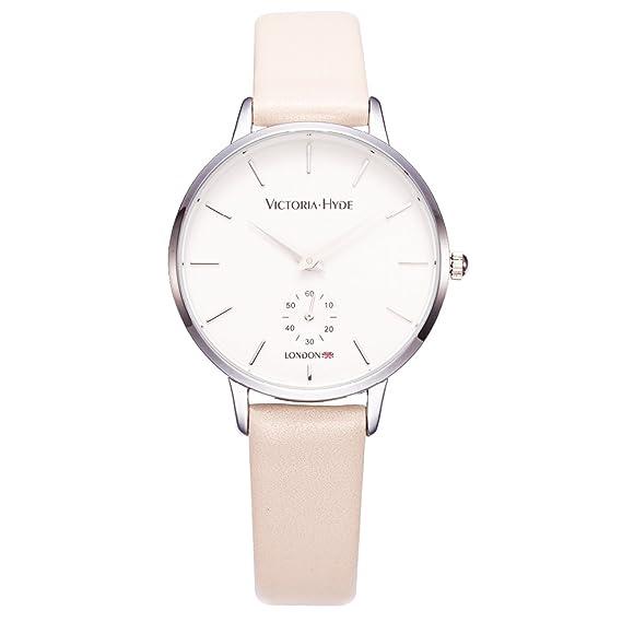 VICTORIA HYDE Reloj de pulsera elegante para mujer Relojes de cuarzo con correa de cuero de segunda mano para mujer Resistente al agua: Amazon.es: Relojes