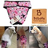 Bro'Bear Adjustable & Washable Female Pet Diaper for Medium to Large Girl Dog Sanitary Pantie (Pink Bunny, X-Large) For Sale