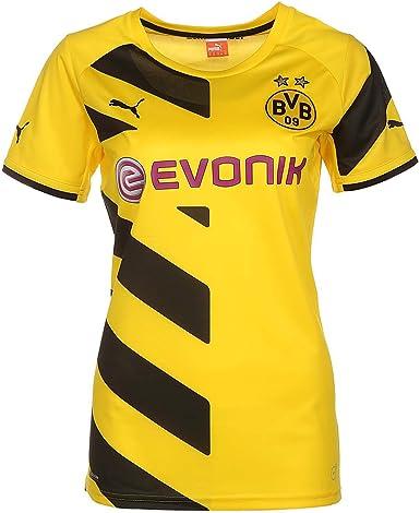 PUMA Replica - Camiseta Deportiva para Mujer, diseño del Borussia Dortmund: Amazon.es: Ropa y accesorios