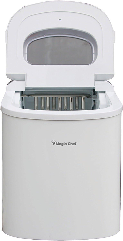 White Magic Chef MCIM22W Portable Countertop 27-Pound Ice Maker