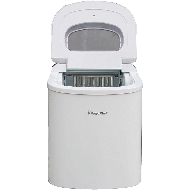 Magic Chef - MCIM22W, Portable Countertop 27-Pound Ice Maker, White
