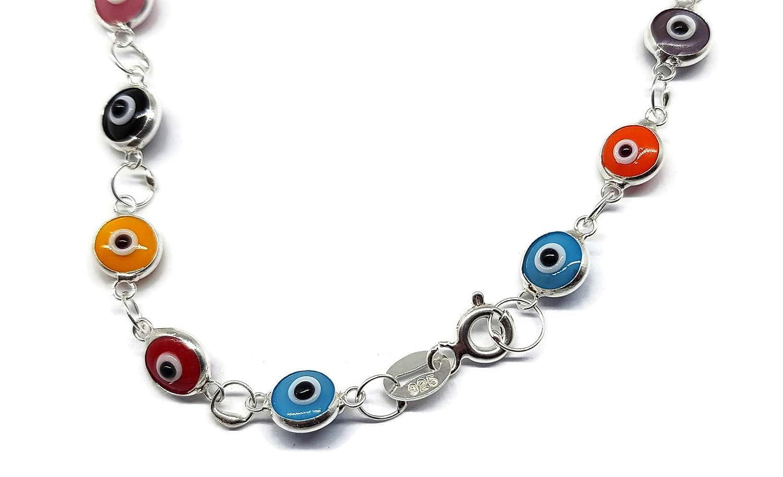 Bracciale in argento contro il malocchio Mystic Jewels By Dalia 19 cm