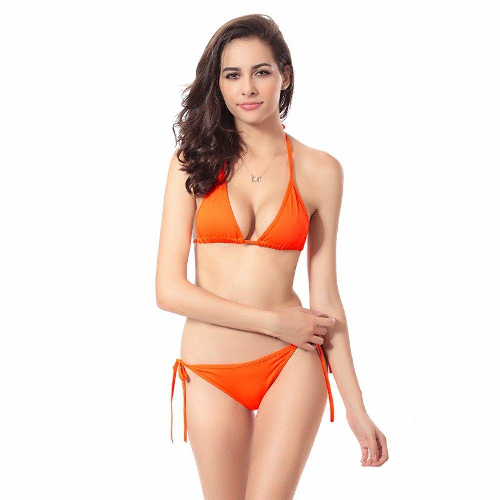 Tuscom Bathing Suit Women Bandage Bikini Set Push-up Bra Swimsuit CYT72361300