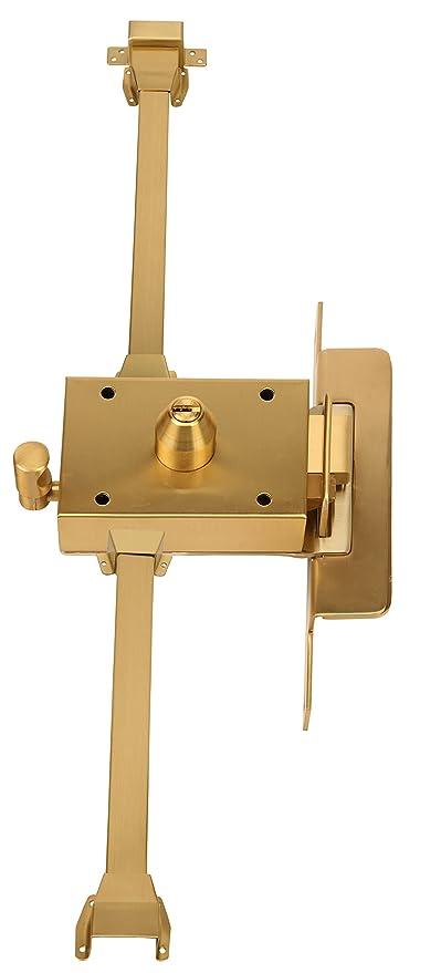 Inceca 37250 - Cerradura de sobreponer, 3 puntos, golpe y llave, doble cilindro
