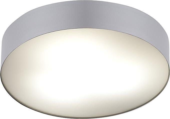 Arena lampada da soffitto per bagno in metallo pmma argento