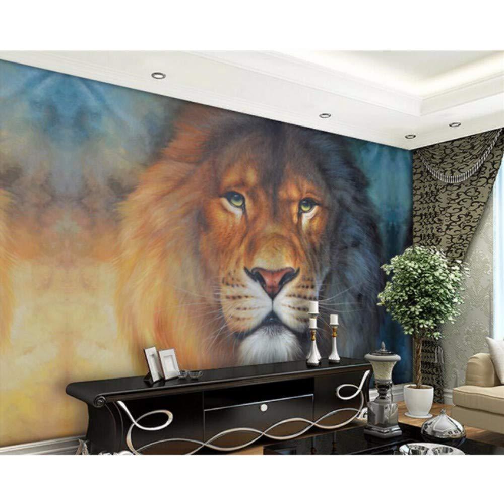 YSSYSS Papel tapiz 3D león animal entrada dormitorio sala de estar ...