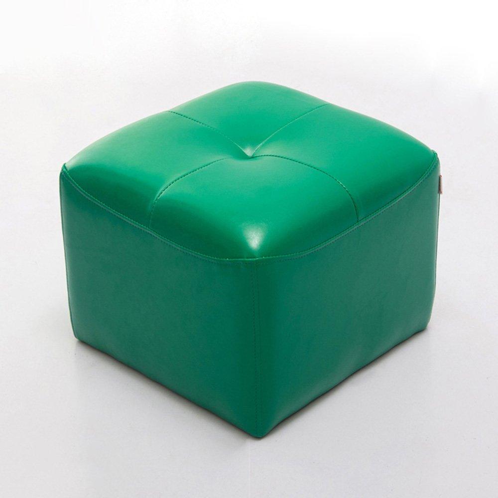 YANFEI ソファのスツールの靴のベンチPU +ソリッドウッドフレーム34 * 42 * 42CM (色 : Green) B07FBTYKYB Green Green