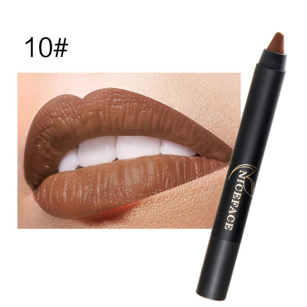 Hot Sales! DEESEE(TM) Ladies Beauty Makeup Waterproof Sexy Pen Hydrating Long Lasting Lip Gloss Pen (J)