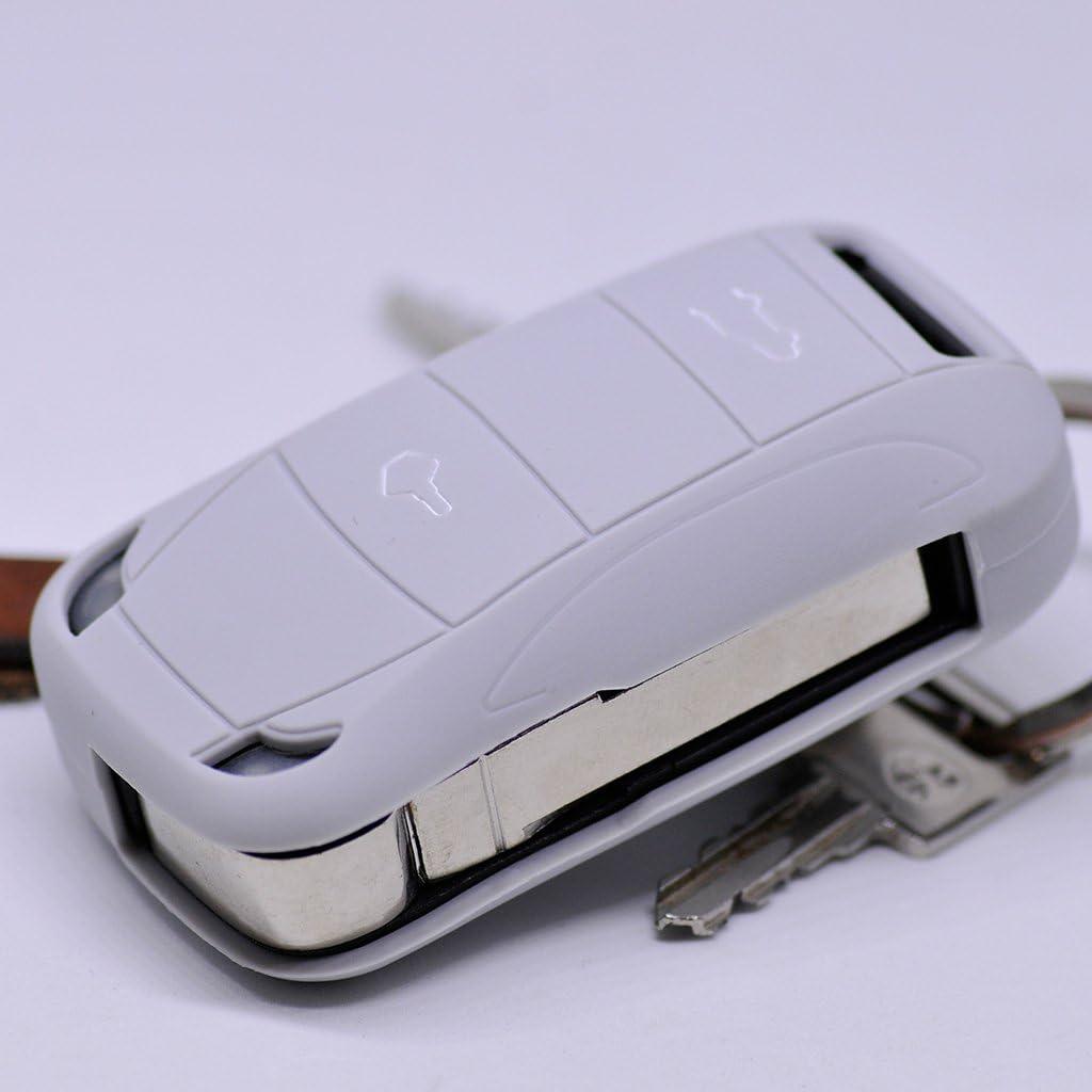 Soft Case Schutz Hülle Auto Schlüssel Für Porsche 955 Cayenne Klappschlüssel Remote Farbe