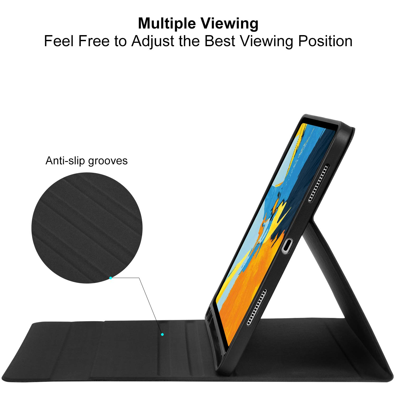 Support Apple Pencil Charging - Ultra Slim PU Leather Folio Stand ...