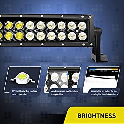 Led Light Bar Nilight 42Inch 240W Curved Spot Floo