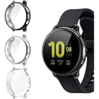 [3 Pack] Screen Protector Case for Samsung Galaxy Active 2, All-Around TPU Anti-Scratch Flexible Case Soft Protective Bumper Cover for Samsung Galaxy Watch Active 2. 40mm