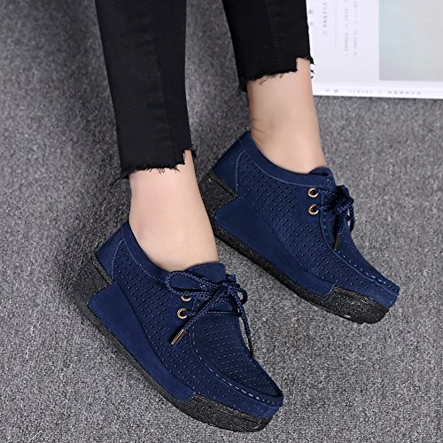 Shoes Blue Flat Shake Dark ��farjing Breathable Sale Leisure Sports Round Hollow clearance Women For Womens Head rOqZx4r