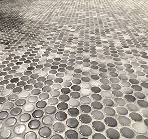 Round Glossy Finish Porcelain Mosaic ()