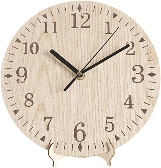 Zqstoryvi Decorativo Reloj de Madera Redondo rústico Vintage con ...