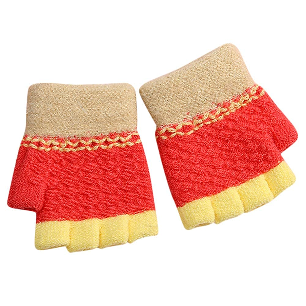 Little Kids Winter Warm Gloves,Colorful(TM) Newborn Baby Girls Boys Winter Candy Color Patchwork Keep Warm Mittens Gloves for 0-2 Years Old
