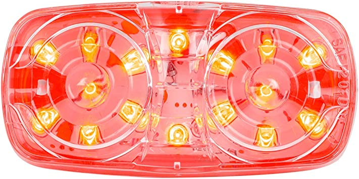 Tiger Eye 16-LED GG Grand General 85243 Red//Clear Marker Light