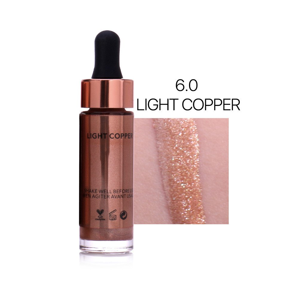 LEERYAAY MakeUp Health and Beauty 7 Colors Highlighter Make Up Concealer Shimmer Face Glow Liquid Highlighter F
